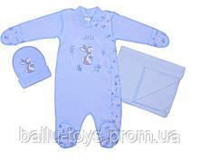 Комплект для новорожденных мальчиков Зайчик (0-3 мес)