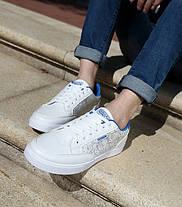 Стильные мужские кроссовки с рисунком   Эко-кожа, фото 3