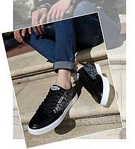 Стильные мужские кроссовки с рисунком   Эко-кожа, фото 2