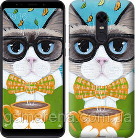 Чехол на Xiaomi Redmi 5 Plus Cat&Coffee