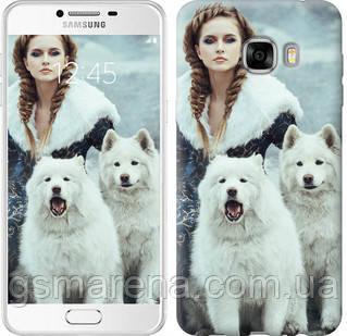 Чехол на Samsung Galaxy C7 C7000 Winter princess , фото 2