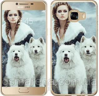 Чехол на Samsung Galaxy C5 C5000 Winter princess , фото 2
