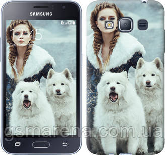 Чехол на Samsung Galaxy J1 (2016) Duos J120H Winter princess , фото 2