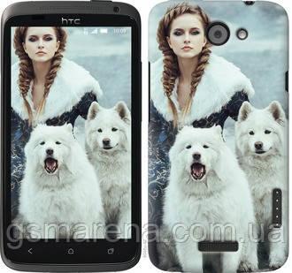 Чехол на HTC One X Winter princess