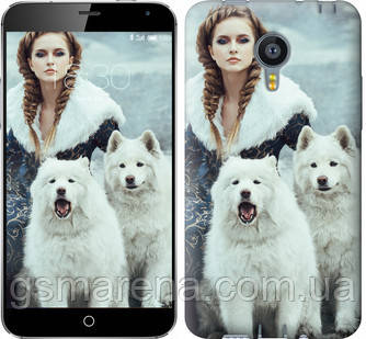 Чехол на Meizu MX4 Winter princess , фото 2