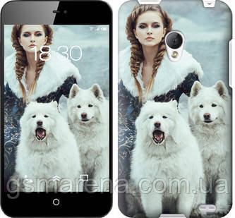 Чехол на Meizu MX2 Winter princess , фото 2