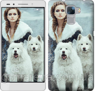 Чехол на Huawei Honor 7 Winter princess , фото 2