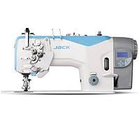 Jack JK-58420J  Двухигольная швейная машина без отключения игл с автоматикой и стандартным челноком