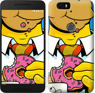Чехол на Huawei Nexus 6P Гомер с пончиком