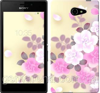Чехол на Sony Xperia M2 Aqua D2403 Японские цветы