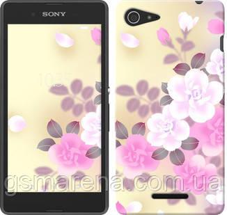 Чехол на Sony Xperia E3 D2202 Японские цветы , фото 2