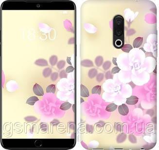 Чехол на Meizu 15 Plus Японские цветы , фото 2