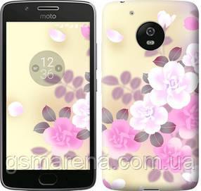 Чехол на Motorola Moto G5 Японские цветы