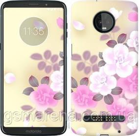 Чехол на Motorola Moto Z3 Play Японские цветы