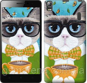 Чехол на Lenovo A7000 Cat&Coffee