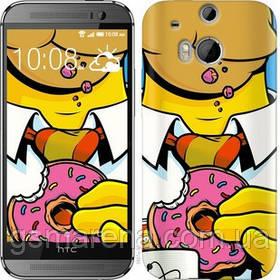 Чехол на HTC One M8 Гомер с пончиком