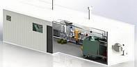 Блочная модульная котельная на твердом топливе 95 кВт БМ-А-0.0.0.0