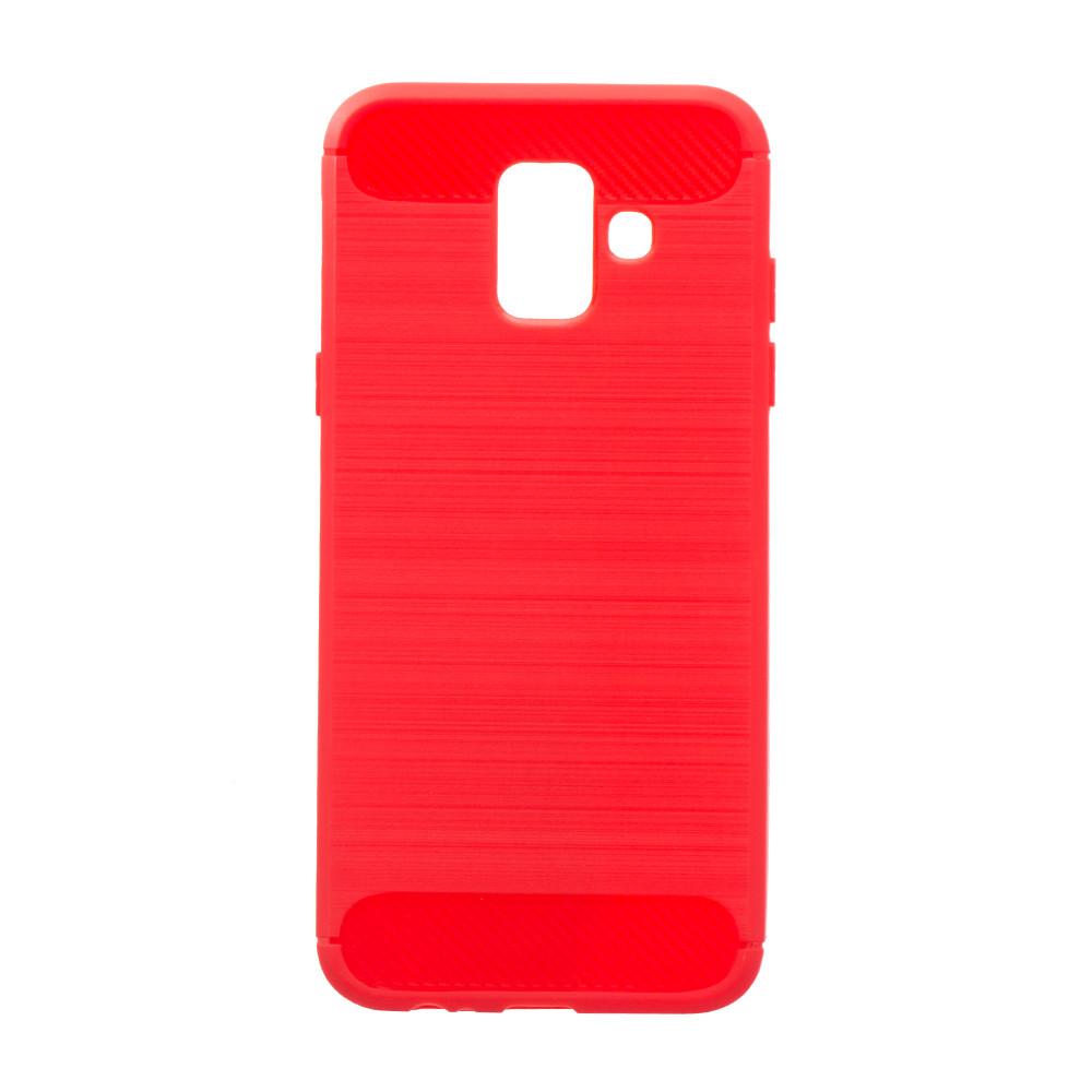 Панель ZBS Polished Carbon для Samsung A6 2018 Red (21288)