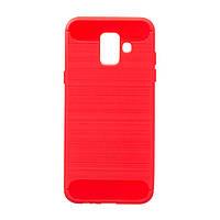 Панель ZBS Polished Carbon для Samsung J6 2018 Red (21284)