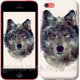 Чехол на iPhone 5c Волк-арт