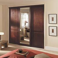 встроенный шкаф с деревянными дверями фото 93