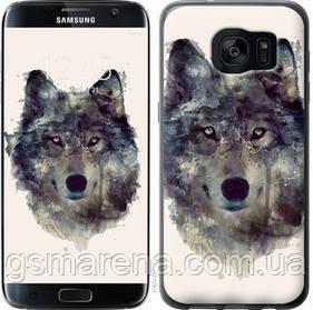 Чехол на Samsung Galaxy S7 Edge G935F Волк-арт