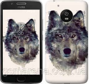 Чехол на Motorola Moto G5 Волк-арт
