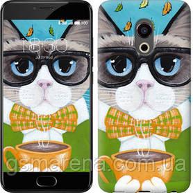 Чехол на Meizu Pro 6 Cat&Coffee