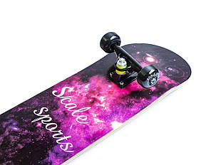 Скейт для трюков - скейтборд для начинающих SK8 - Cosmos Космос, фото 2