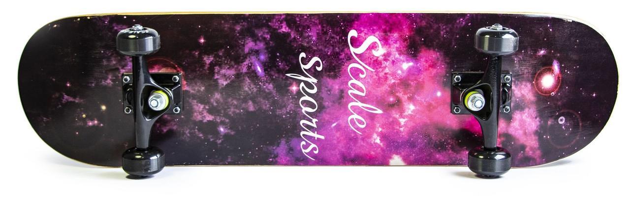 Скейт для трюков - скейтборд для начинающих SK8 - Cosmos Космос