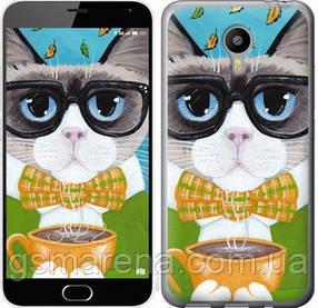 Чехол на Meizu M2 Note Cat&Coffee