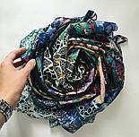 Платок хлопковый 10309-18, павлопосадский платок хлопковый (батистовый) с швом зиг-заг, фото 5