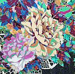 Платок хлопковый 10309-18, павлопосадский платок хлопковый (батистовый) с швом зиг-заг, фото 3