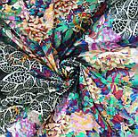 Платок хлопковый 10309-18, павлопосадский платок хлопковый (батистовый) с швом зиг-заг, фото 4