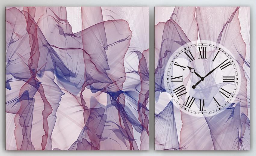 Фото картина с часовым механизмом Абстракция 100х60
