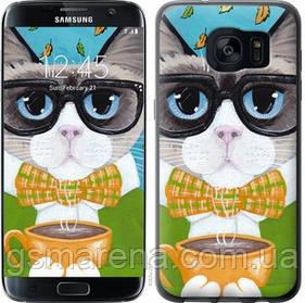 Чехол на Samsung Galaxy S7 Edge G935F Cat&Coffee