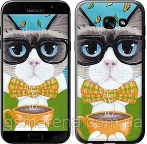 Чехол на Samsung Galaxy A5 (2017) Cat&Coffee