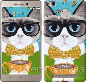 Чехол на Xiaomi Redmi 3s Cat&Coffee