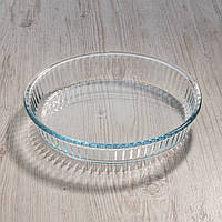 """Форма круглая 260 мм из жаропрочного стекла """"Borcam 59044"""" 1шт."""