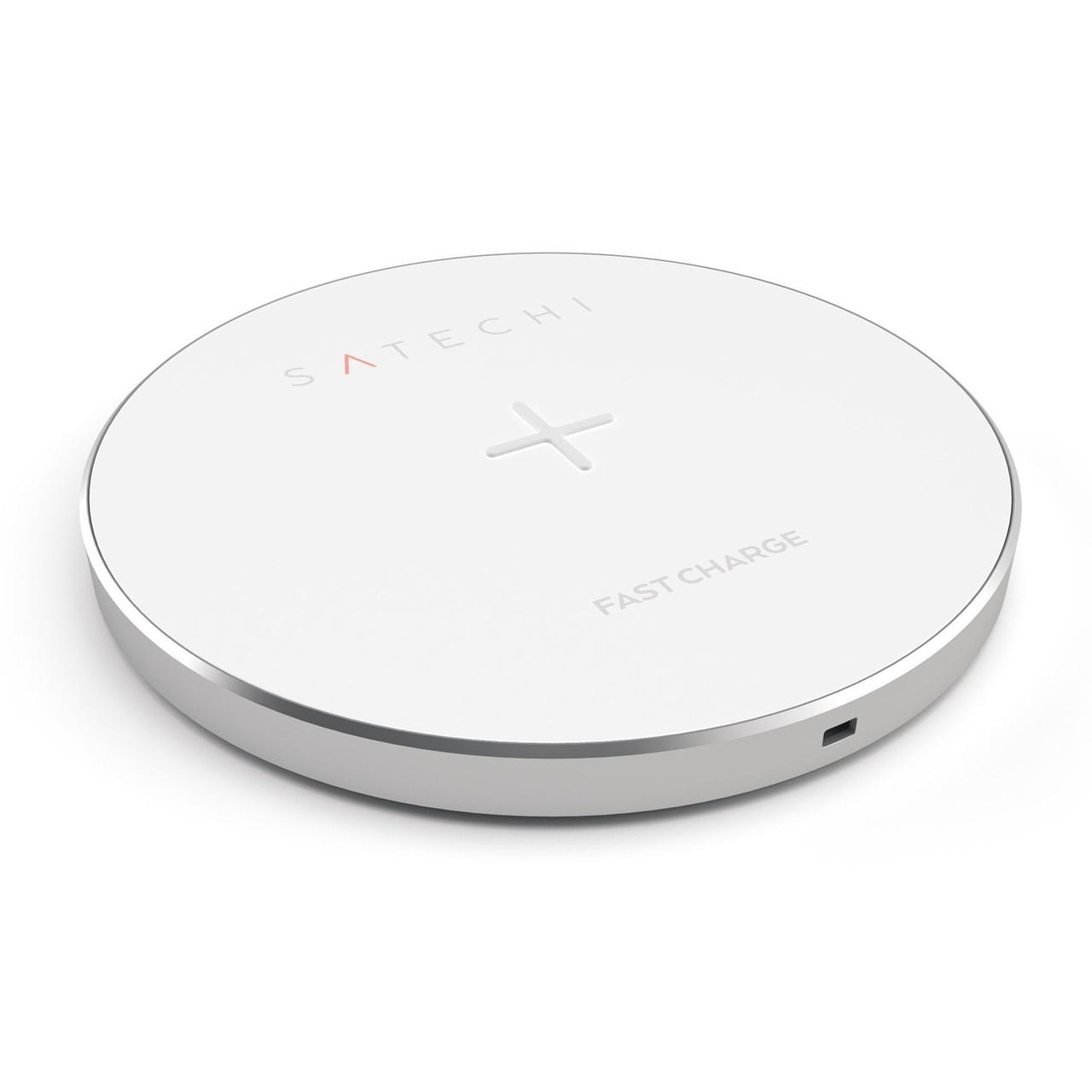 Бездротовий ЗП Satechi Wireless Charging Pad  ( Silver )