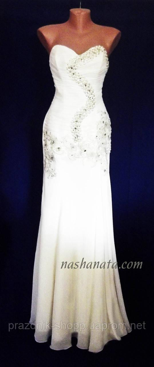 Платье вечернее, айвори