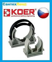 Крепежная клипса для полипропиленовой трубы Koer 40