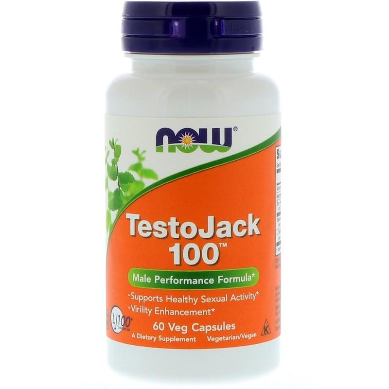 Now Foods, TestoJack 100, 60 растительных капсул