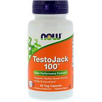 Now Foods, TestoJack 100, 60 растительных капсул, фото 1