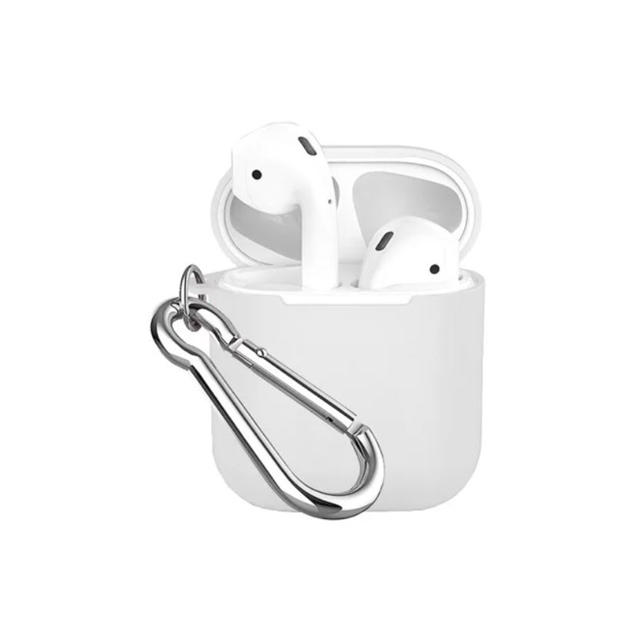 Чохол для AirPods COTEetCI TPU Pods Case white Hook ( Black )