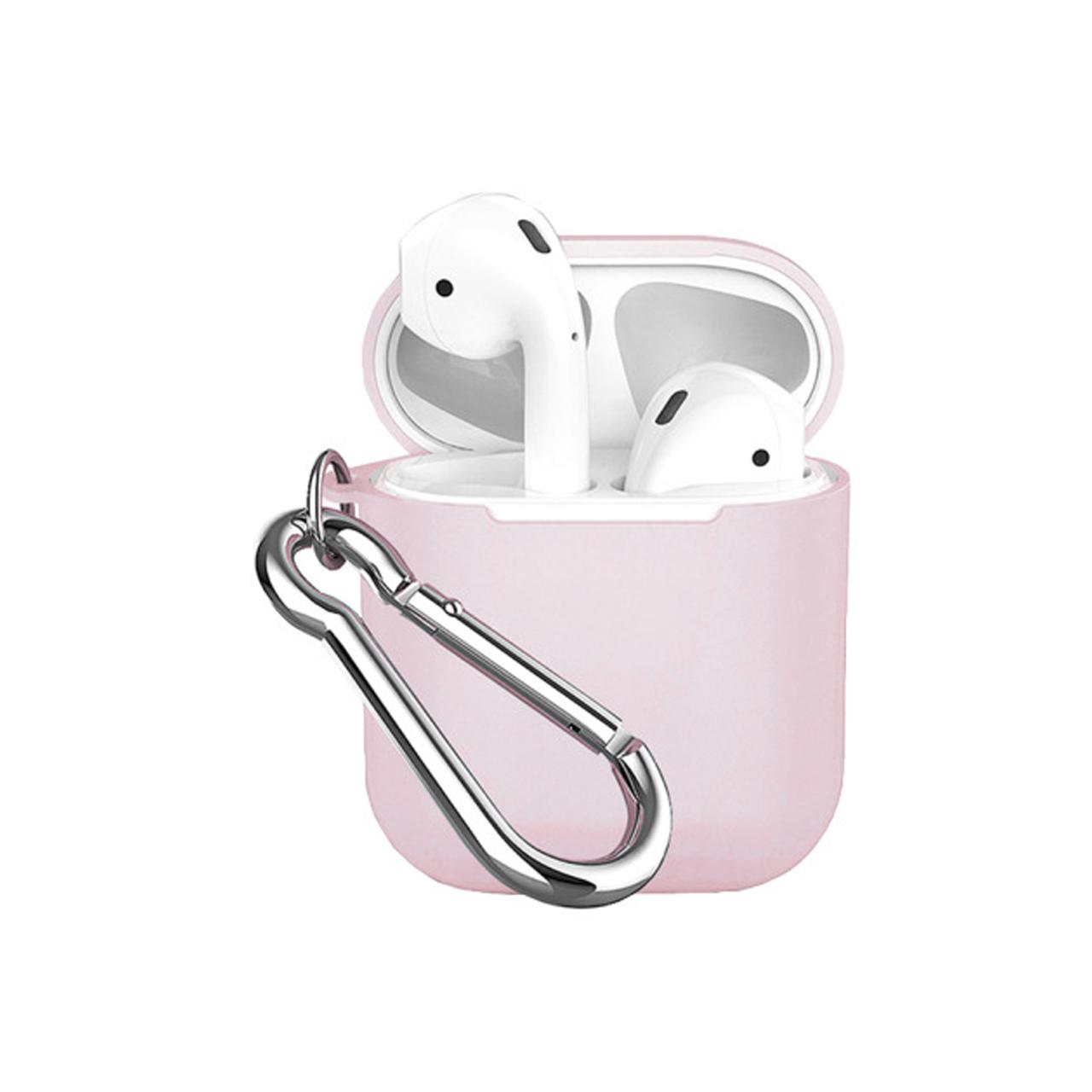 Чохол для AirPods COTEetCI TPU Pods Case white Hook ( Pink )