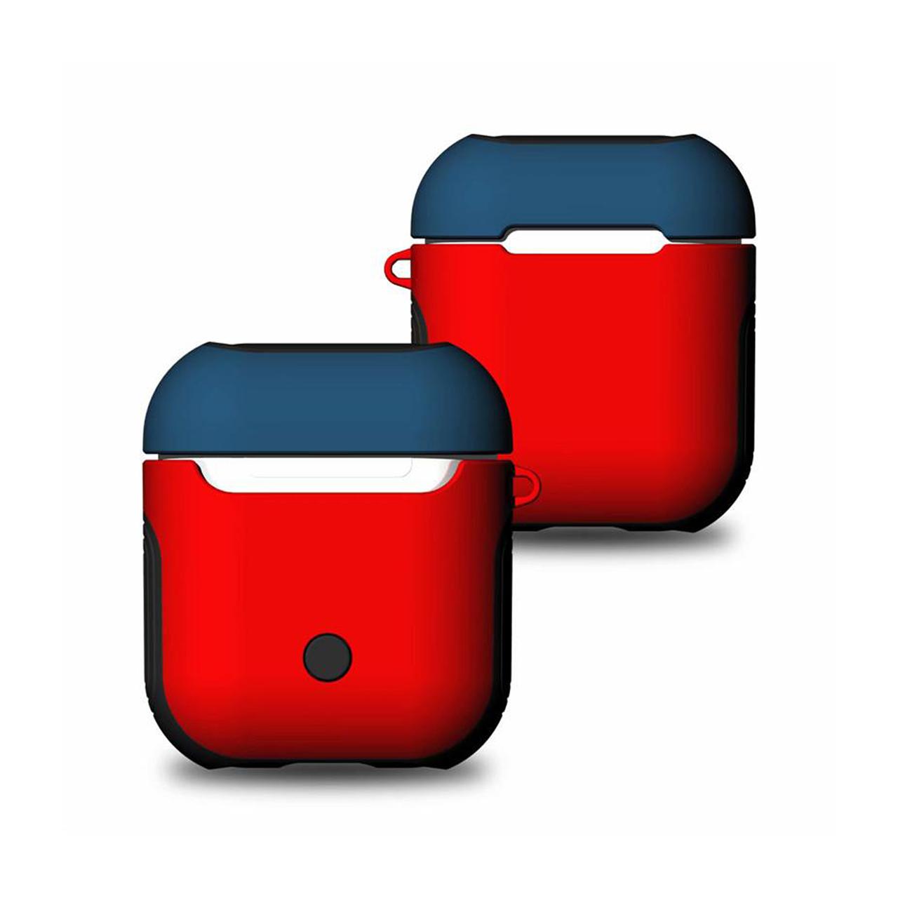 Чохол для AirPods Soft TPU + Hard PC Case ( Red/Blue )