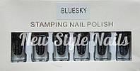 Набор лак-красок для стемпинга,Bluesky (черный)
