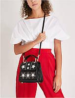 Женская стильная черная кожаная сумочка через плечо Rebecca Minkoff, фото 1