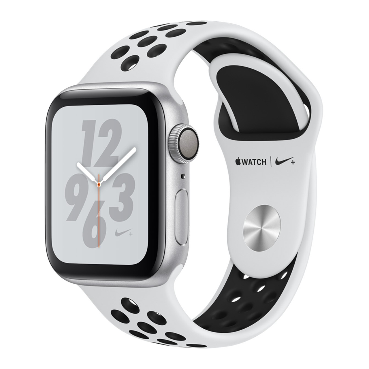 Apple Watch Series 4 Nike+ GPS 40mm Silver Aluminium Case with Platinum/Black Nike Sport Band (MU6H2)